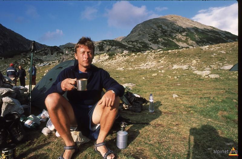 Poza mea in Munţii Retezatului, Lacu Bucura, august 2007