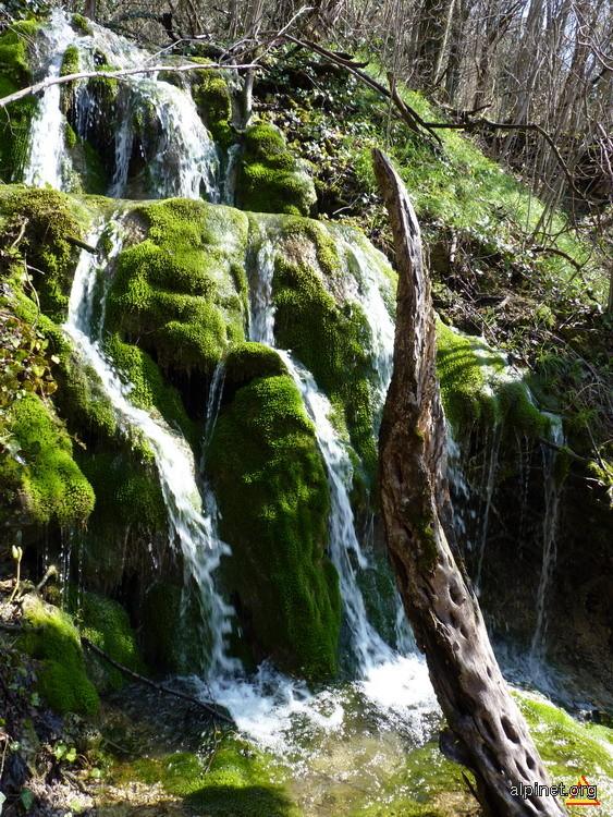 Cascada pe un afluent temporar al Vaii Lisava