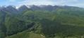 Privind muntii Fagaras de la inaltime, de deasupra Vistisoarei (gura raului Vistea Mare)