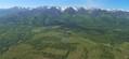 Vedere spre muntii Fagaras de deasupra teritoriului comunei Vistea.