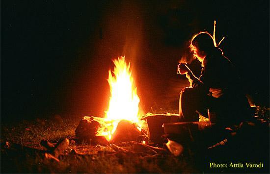 Stând la foc