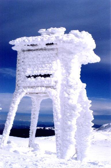 Staţia meteo îngheţată