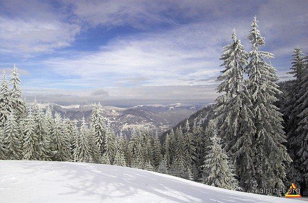 peisaj de iarnă la Straja
