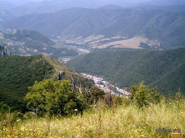 Oraşul Herculane vazut de pe Vf. Domogled