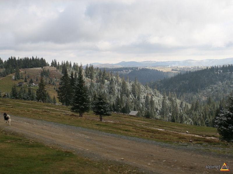Satul Măguri, vazut de la crucea lui Avram Iancu