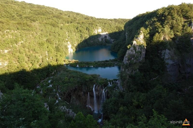Plitvice-Jezera vazute de sus
