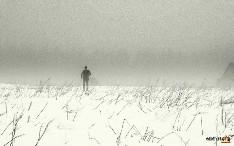 Singurătatea schiorului de tură lungă