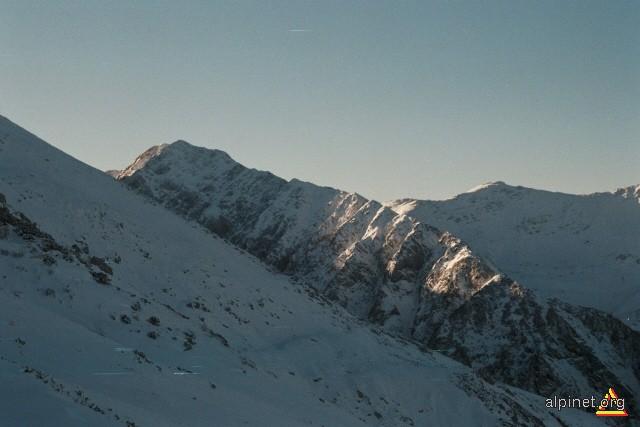 Piscul Serbotei, vedere din Muchia Tunsu, 29 noiembrie 2009