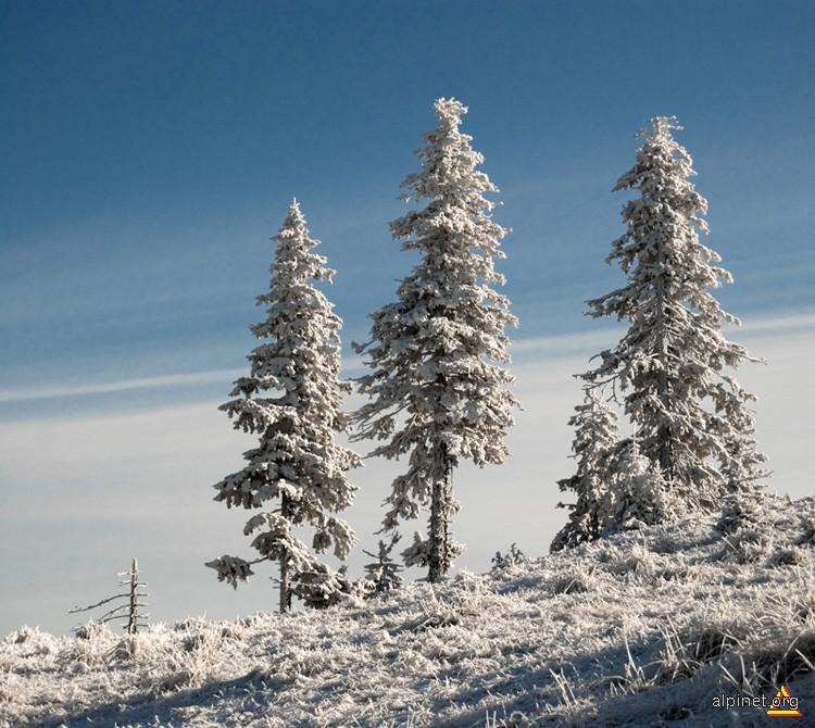 Piatra Mare, soare puternic, zăpada încă rezistă