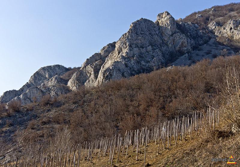 Vârfurile Locvei, aproape de comuna Coronini