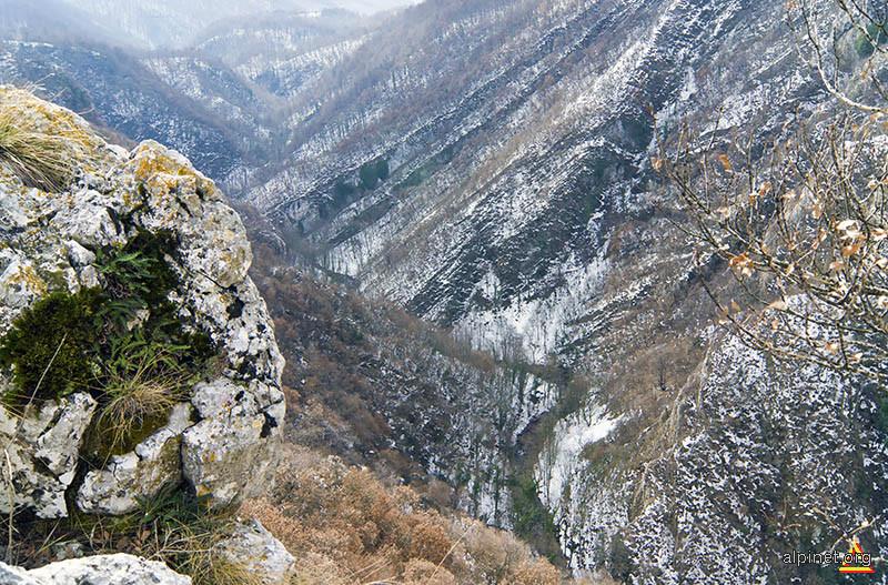 Pe valea Garliştei, în amonte