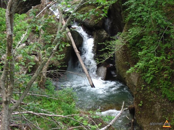 Cascadă pe râul Cheia