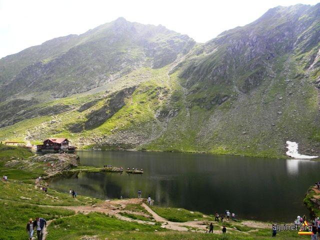 Lacul şi cabana Bâlea