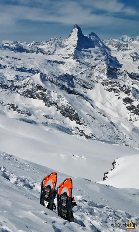 Matterhorn cu rachete, din saua Allalin