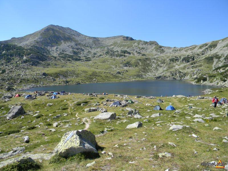 Lacul si vârful Bucura