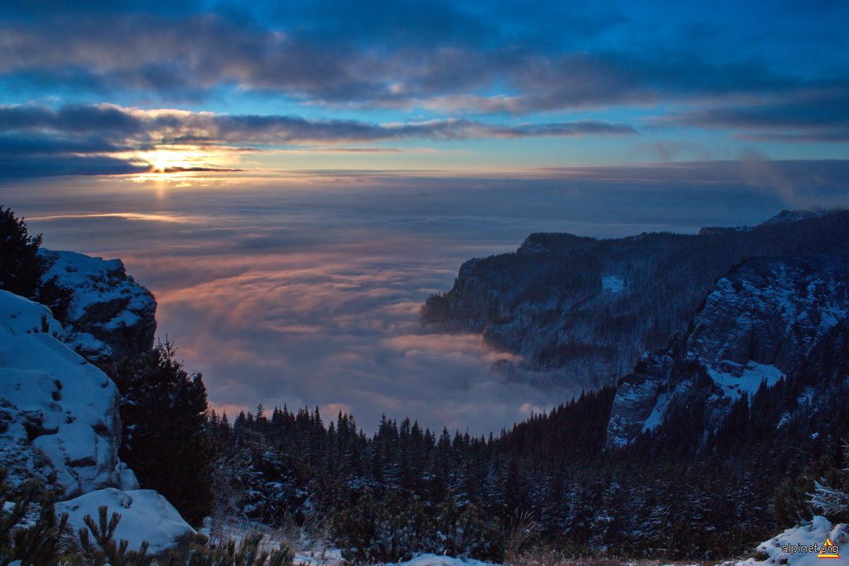 Răsărit peste marea alpina